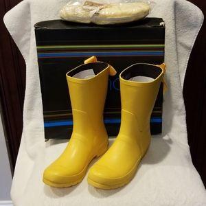 Good 2 Last Raindrop Lemon Duck Yellow Rain Boots